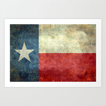 "The State flag of Texas - The ""Lone Star Flag"" of the ""Lone Star State"" Art Print by LonestarDesigns2020 - Flags Designs +"