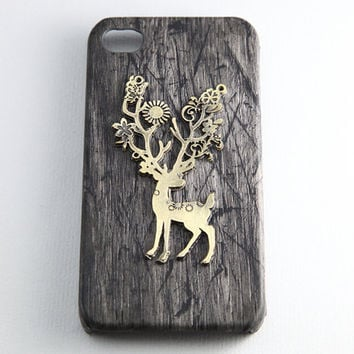 black iPhone 5 case, vintage style wild deer elk charm Apple iPhone 5 Case, iPhone 5 Hard Case --- SALE
