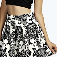 Mila Box Pleat Skater Skirts