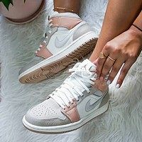 NIKE Air Jordan 1 Couple-style stitching color casual sneakers