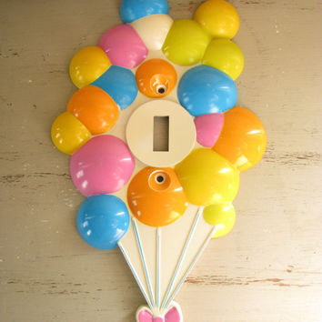 Vintage Childrens Balloon Light Switch Plate
