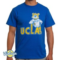 UCLA Bruins Distressed Leaning Joe T-Shirt - Blue