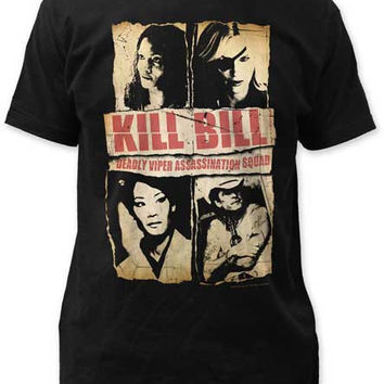KILL BILL ASSASSINATION SQUAD MENS FITTED JERSEY TEE