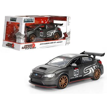 2016 Subaru WRX STI Widebody Matt 16 JDM Tuners 1:24 Diecast Model Car by Jada