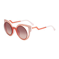 Fendi Open-Inset Round Cat-Eye Sunglasses