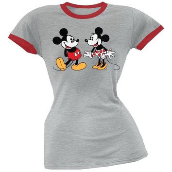 Chenier Mickey Mouse - Best Friends Juniors Ringer T-Shirt