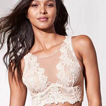 Floral Applique Long Line Bra - Dream Angels - Victoria's Secret