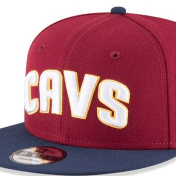 Men's Cleveland Cavaliers New Era Cardinal 2Tone 9FIFTY Hat