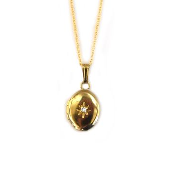 14kt Gold Forever Close To My Heart Diamond Locket