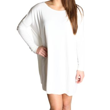 Off White Piko Tunic Long Sleeve Top