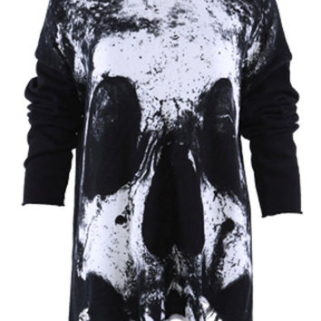 Iron Fist Loose Tooth Torn Sweater Over sized Punk Skull
