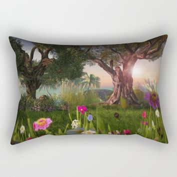 Multitude of Color Rectangular Pillow by Bella Luna Arts