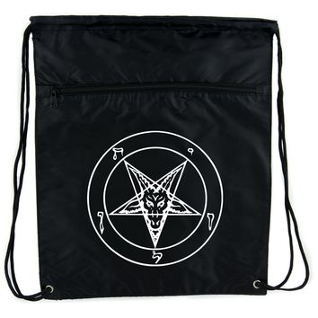 Sigil of Baphomet Cinch Bag Drawstring Backpack Occult Inverted Pentagram