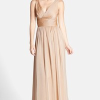Women's Monique Lhuillier Bridesmaids Sleeveless Ruched Chiffon Dress (Nordstrom Exclusive)