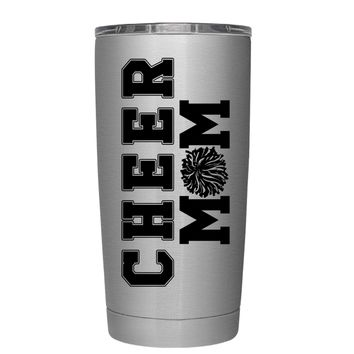 Pom Pom Cheer Mom 20 oz Tumbler Cup