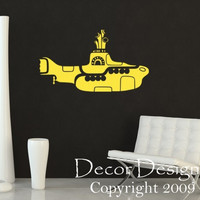 Yellow Submarine Vinyl Wall Decal Sticker