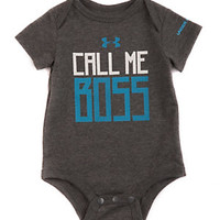 Under Armour 3-9 Months Call Me Boss Bodysuit | Dillard's Mobile