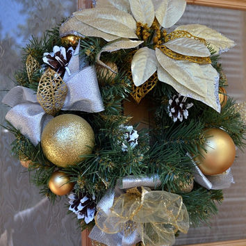 Christmas Door Wreath Holiday Wreath Cones Christmas Decoration New Year Traditional Door Wreath Charm for home Noel Handmade!