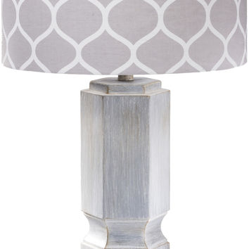 Sandy Pattern Table Lamp Washed Gray Grey