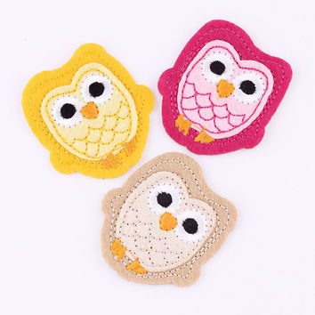 Hot Sale 1PCS Brand Logo Patches Cartoon Owl Embroidered Iron On Patch For Clothing Jacket Applique Applique DIY Accessory