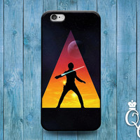 iPhone 4 4s 5 5s 5c 6 6s plus iPod Touch 4th 5th 6th Generation Cool Sunset Silhouette Triangle Fun Movie Hero Custom Phone Cover Cute Case