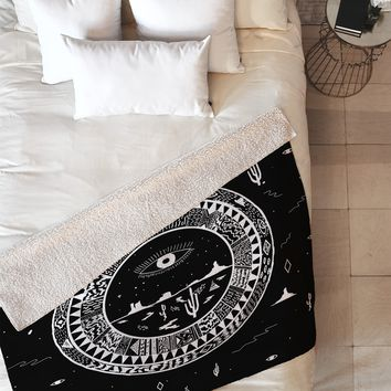 Kris Tate INTERSTELLAR DESERTS Fleece Throw Blanket