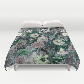 Floral Camouflage VSF016 Duvet Cover by VS Fashion Studio