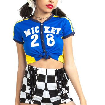 Vintage 90's Team Mickey Mouse Top - XS