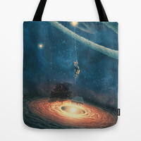 My dream house is in another galaxy Tote Bag by Paula Belle Flores