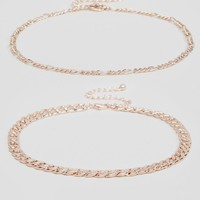 ASOS Pack of Two Fine Chain Choker Necklaces