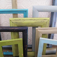Beach Picture Frame Set Of 9 Blue Green Rustic Wall Decor
