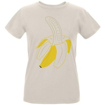 ESBGQ9 Halloween Fruit Peeled Banana Costume Womens Organic T Shirt