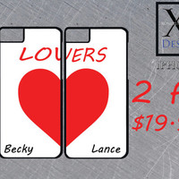 Matching Iphone 6 case Custom Made Lovers Iphone Cases Heart Iphone 6 cases Personalized Iphone Case Couples Iphone Cases