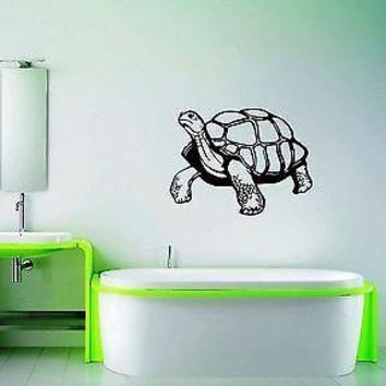 Wall Stickers Vinyl Decal For Bathroom Turtle Animal Unique Gift ig1584