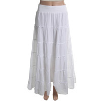 Style & Co. Womens Petites Gathered Pull On Tiered Skirt