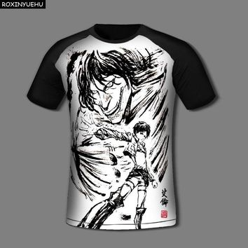 Cool Attack on Titan ROXINYUEHU  T Shirt Men T-Shirt Anime No  Tee Tshirt Survey Corps Logo Clothes    DT022 AT_90_11