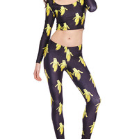 ROMWE Banana Partners Print Leggings