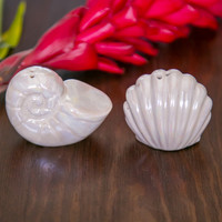 Shell Salt & Pepper Shakers - Pearl