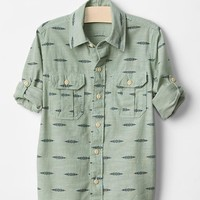 Gap Boys Chevron Convertible Shirt
