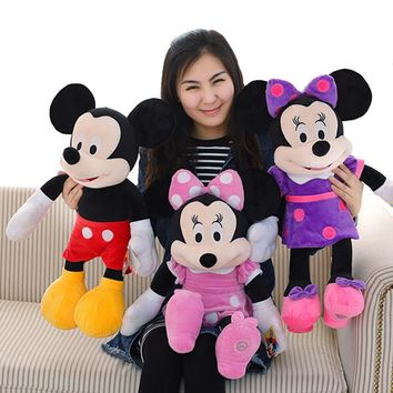 New lovely 60CM Mickey or Minnie Mouse Plush Toy stuffed Doll for Kids Baby Cute Animal Cartoon Birthday Gift for Girls