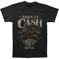 Johnny Cash Men's  Rock N Roll T-shirt Black Rockabilia
