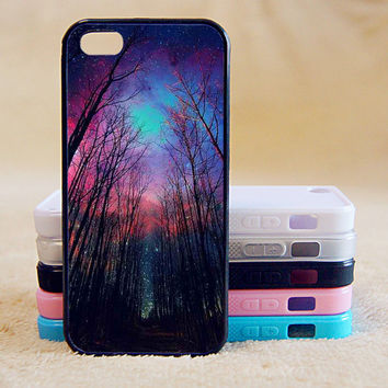The woods,Star night,Custom Case, iPhone 4/4s/5/5s/5C, Samsung Galaxy S2/S3/S4/S5/Note 2/3, Htc One S/M7/M8, Moto G/X