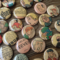 Archie Comic Series Magnets or Pin Back Buttons - Jughead Magnets - Betty and Veronica Magnets