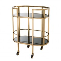 Brushed Brass Bar Cart | Eichholtz Townhouse