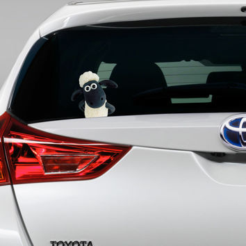 Shaun the Sheep Peeking on Board Funny Joke Novelty Car Bumper Window Sticker Decal For Any Car Full Colour New
