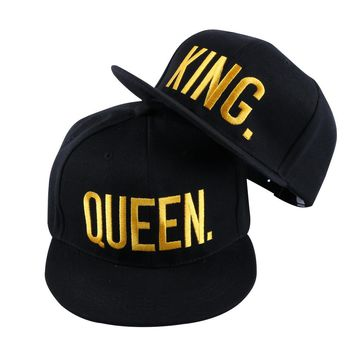 king queen couple snapback caps 2017 hat caps hats embroidered women men baseball queen king snapback hip pop caps 2017 hat
