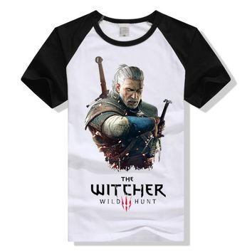 TEEWINING The Witcher 3 T Shirt Witcher3 Wild Hunt Geralt of Rivia T-Shirt Men Women Tshirt Game Clothing 2017 New Fashion