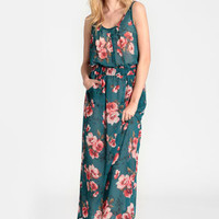 Melanie Floral Maxi Dress - $82.00 : ThreadSence, Women's Indie & Bohemian Clothing, Dresses, & Accessories