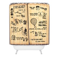 Belle13 A Day Of Lisas Life Shower Curtain