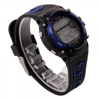Fashion Men Waterproof Silicone Digital Display LED Electronic Sport Wrist Watch Blue tm